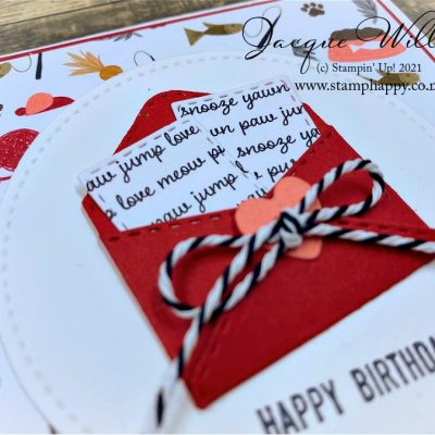 Cute & Quick Gift Card with Playful Pets Paper