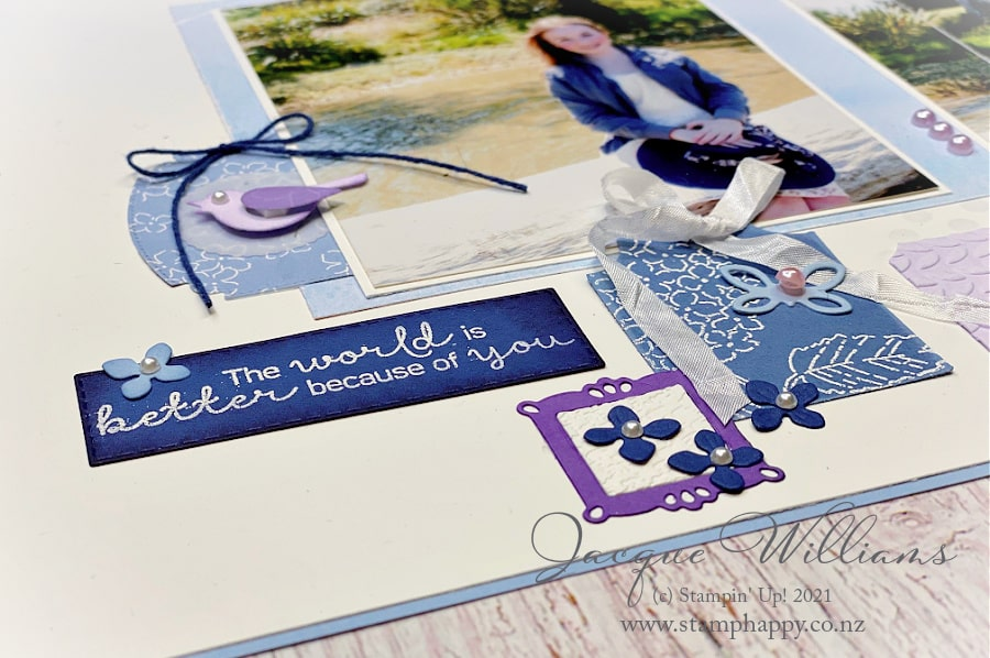 Create a beautiful and seamless layout with the Hydrangea Hill suite.  Coordinating products make designing so much easier, especially when they are gorgeous.  Join me for a scrapbooking class around New Zealand.