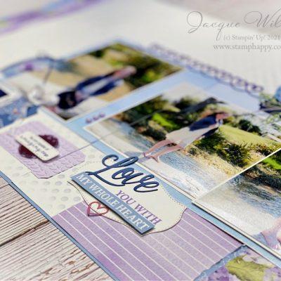 Beautiful Hydrangea Hill Double Page Scrapbooking Layout
