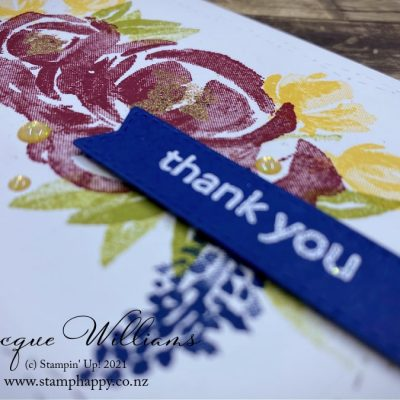 Stitched with Whimsy for a Quick Thank You Card