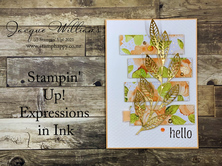 Quick and Easy card with the Expressions in Ink bundle. Join me for a card class in New Zealand! www.stamphappy.co.nz