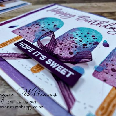 Two Step Stamping Sweet Ice Cream Corner Suite Card