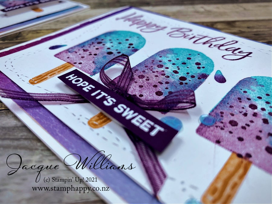 Learn two step stamping while we make this fun ice block or popsicle birthday card, perfect for any age or gender!