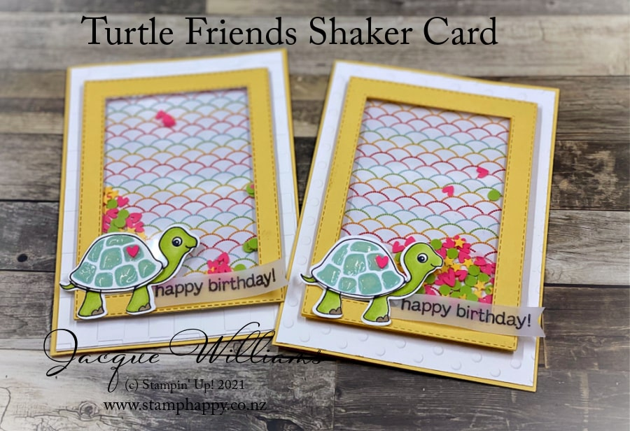 Masculine Makes!  Make a shaker card perfect for a young man or even a baby card.  I'll show you how to make a shaker card in this short video.