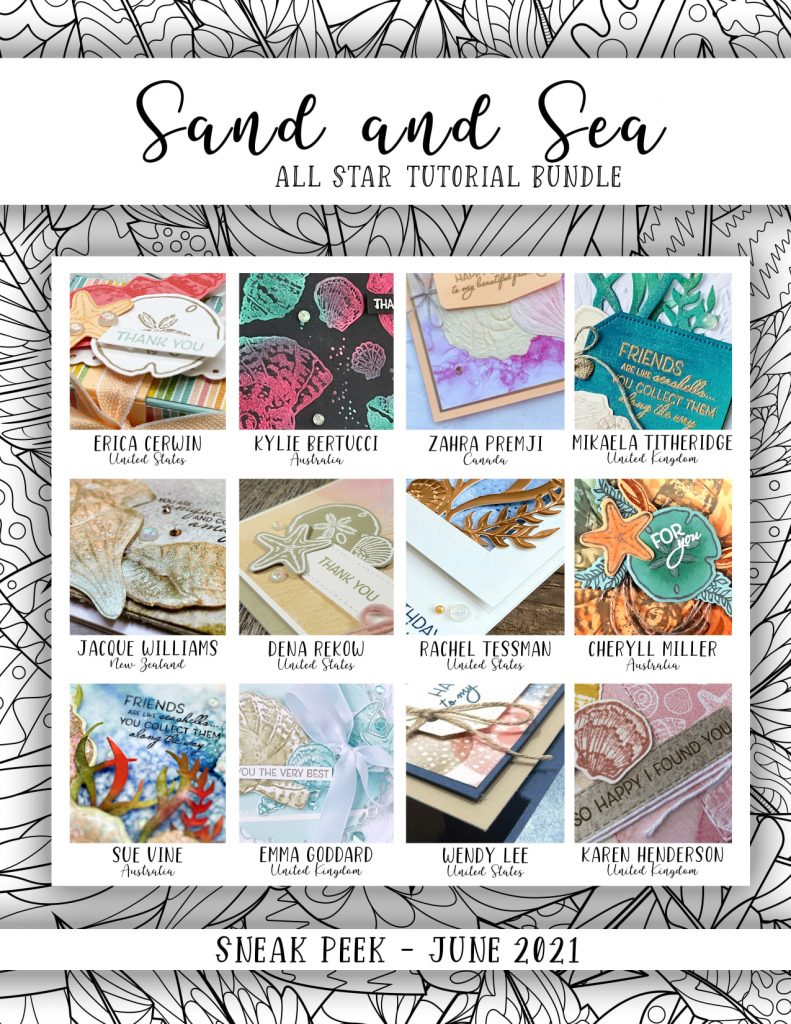 sand and sea beach themed card masculine tutorials