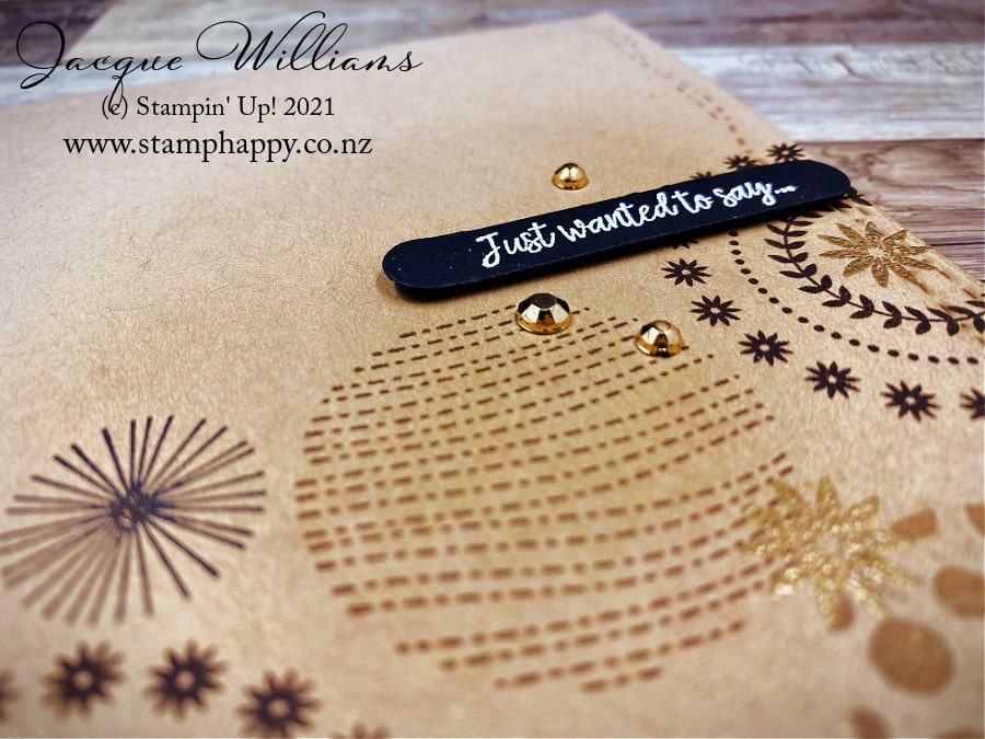 Create a masculine card with one layer and the Circle Celebration stamp set.