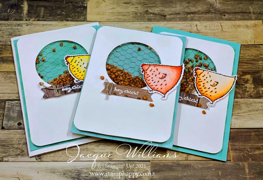Make a fun, unusual shaker card with household items and the Hey Chick bundle! Perfect for anyone who likes a laugh and a smile.  Join me for craft classes in New Zealand or purchase tutorials online anywhere in the world.  www.stamphappy.co.nz