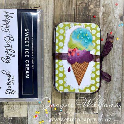 Sweet Ice Cream Altered Tin & Mini Album