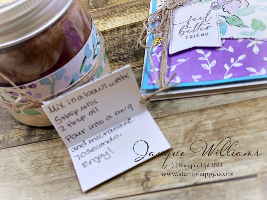 Make your own mug cake mix in the new Mini Jam Jars - perfect for a DIY gift!
