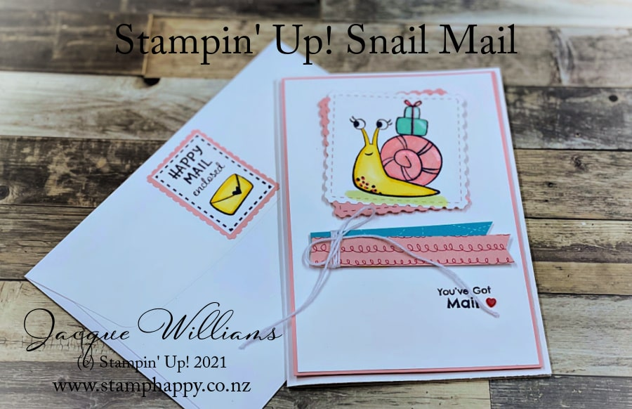 The Snail Mail bundle has adorable images for fun cards!  Complete with coordinating dies for fast and professional crafting.