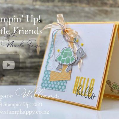 Cute Turtle Friends Baby Card – Free Video Tutorial