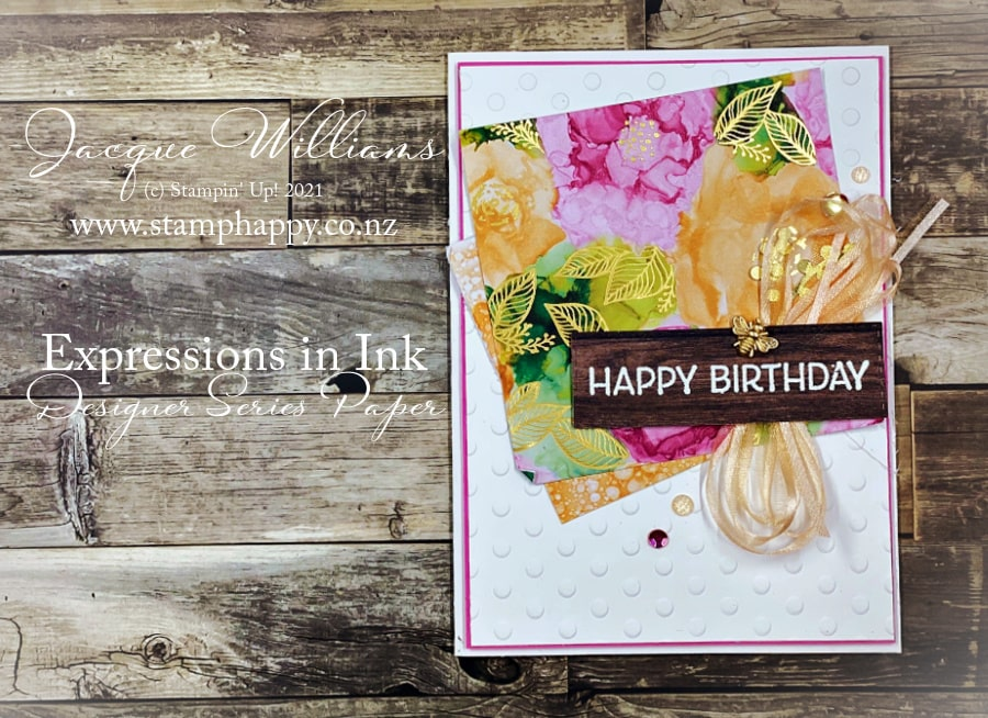 Beautiful ideas for the Expressions in Ink Suite for your inspiration!  Jacque Williams in New Zealand www.stamphappy.co.nz