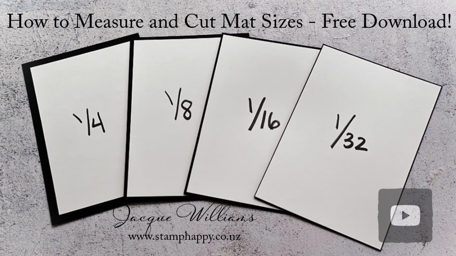 How to Measure and Cut the Perfect Mat Size - Free Video and Free Download Sheet!