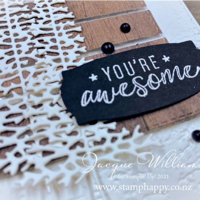 You're Awesome Floating Strip Card for the Guys