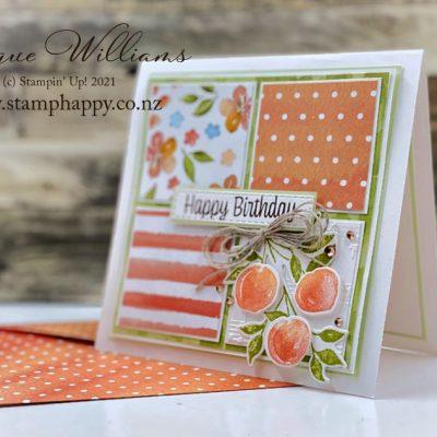 """Sweet as a Peach """"Four Square"""" Card"""