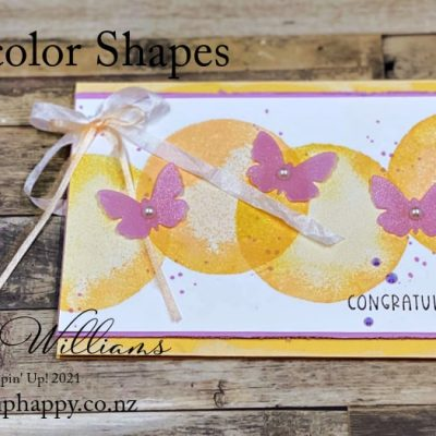Easy Watercolor Shapes Simple Stamping Card