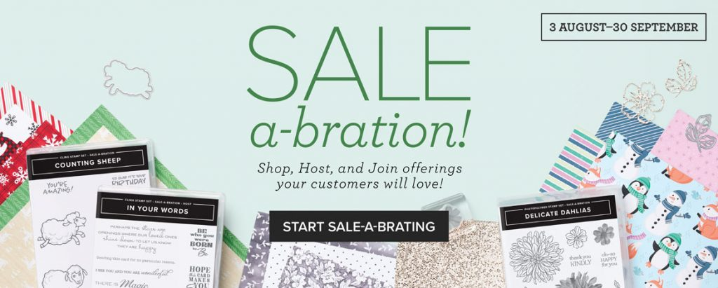 free crafting product with purchase during august and september in New zealand!