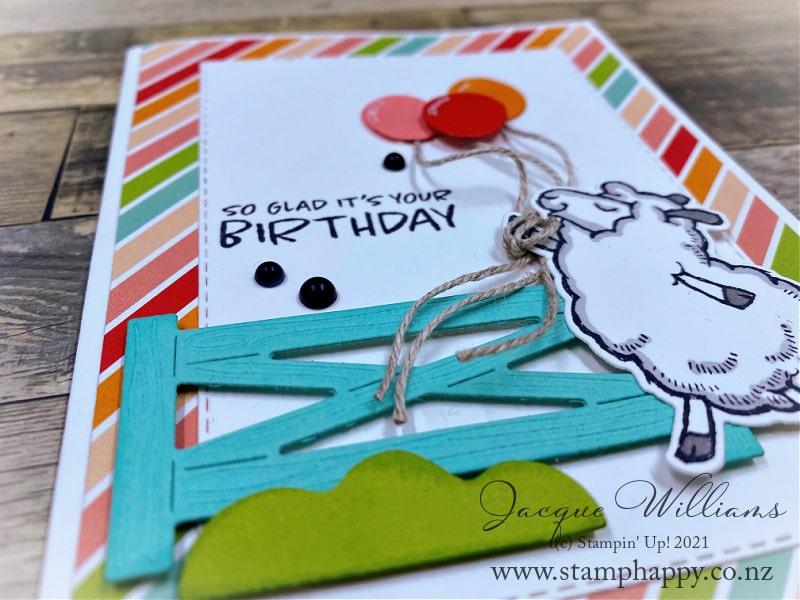 Counting Sheep Rainbow Children's Birthday Card