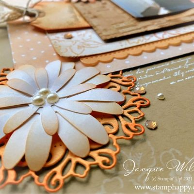 Hand Penned Vintage Double Page Scrapbooking Layout
