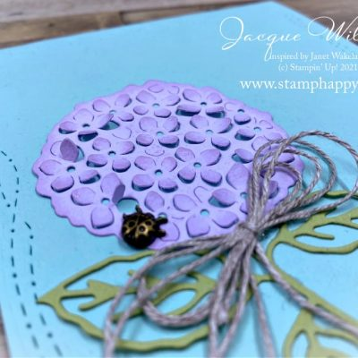 One Layer Hydrangea Haven Cards & Stitched with Whimsy