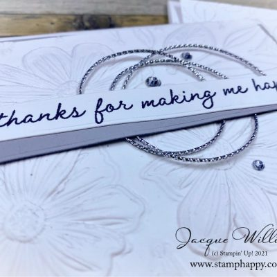 Quick and Elegant Art in Bloom Wedding Card