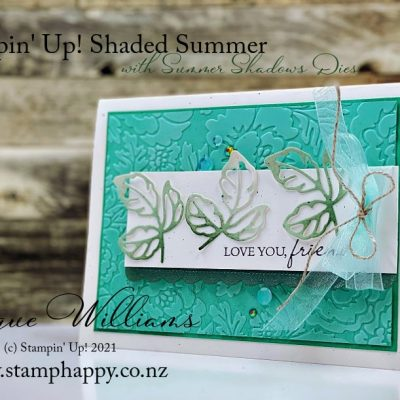 Shaded Summer Card with Free Summer Shadow Dies