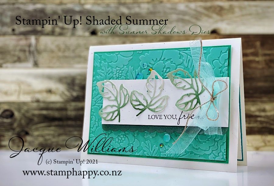 Stampin' Up! Shaded Summer with the Summer Shadows Dies for a beautiful project with custom cardstock.