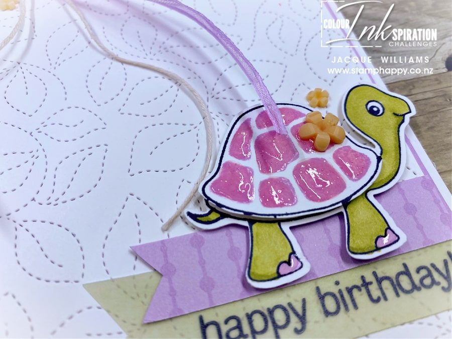 Make a cute birthday card for a child with the fun Turtle Friends punch bundle!  card making classes in New Zealand