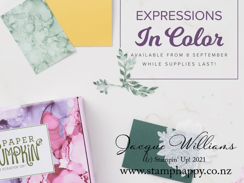 Expressions in Colour Color Paper Pumpkin kit new Zealand jacque williams stampin up stamping kit card crafting kit kid friendly