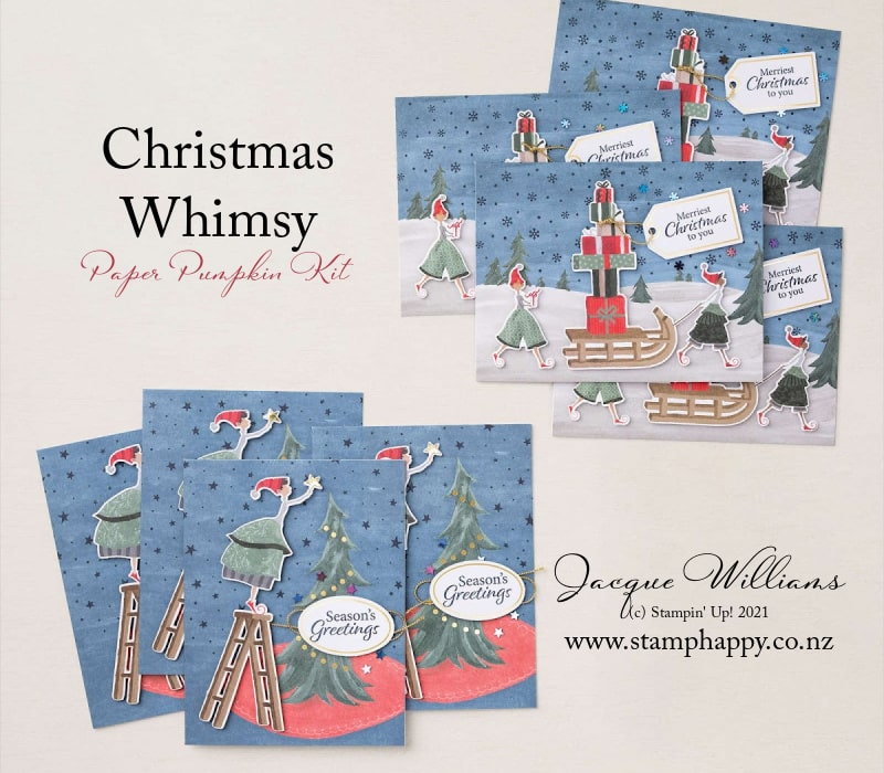 Christmas Whimsy Christmas Card kit New Zealand stampin up easy kids project