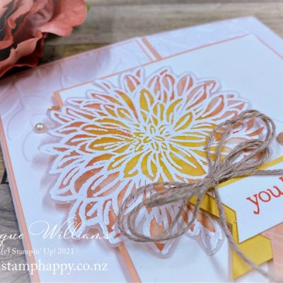 Delicate Dahlias in Vellum for a Soft Effect