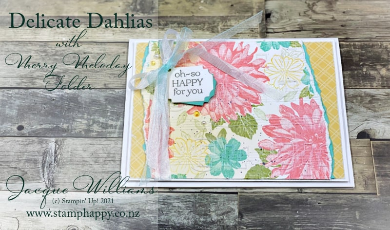 Delicate Dahlias contains gorgeous images.  Use all of them to create your own background or printed paper!