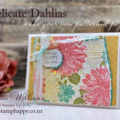 Delicate Dahlias as a Gorgeous Printed Paper