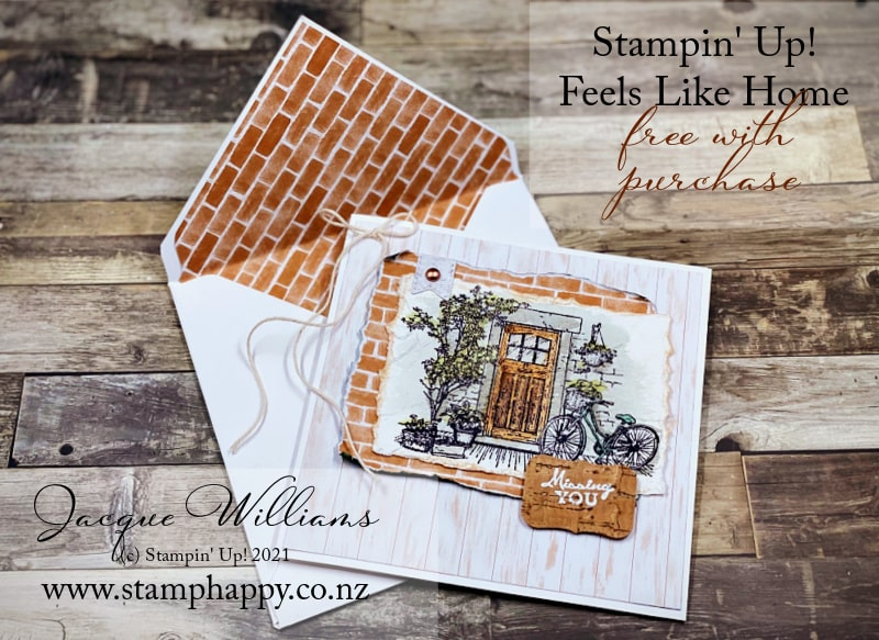 The vintage style image in the Feels Like Home stamp set looks great colored or not colored in.   with the Bloom Where You're Planted papers