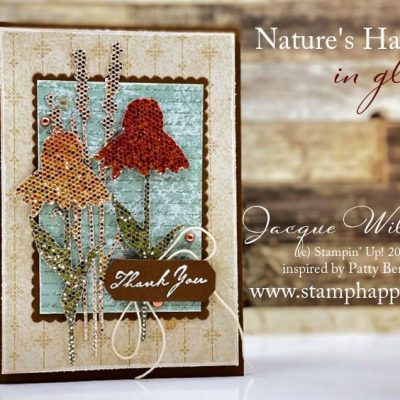 Nature's Harvest with the Be Dazzling Glitter Paper