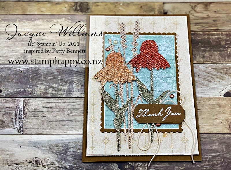 How to color glitter paper without wrecking your markers!  with the Nature's Harvest bundle. Inspired by Patty Bennett