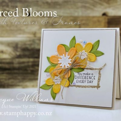 Quick Pierced Blooms with Textures & Frames