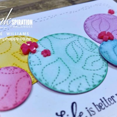 Bright Stitched Circles for Colour Inkspiration #108