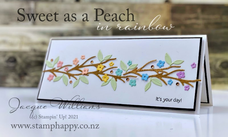Sweet as a Peach project that doesn't use the peaches!  You're a Peach suite is very versatile.  Join me for a stamping class online or in person.